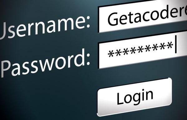 как создать логин и пароль