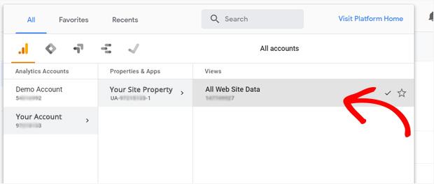 добавить новый сайт в Google Analytics